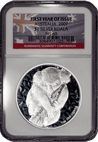 2007 Australia $1 Koala .999 Silver First Year of Issue - NGC MS 69