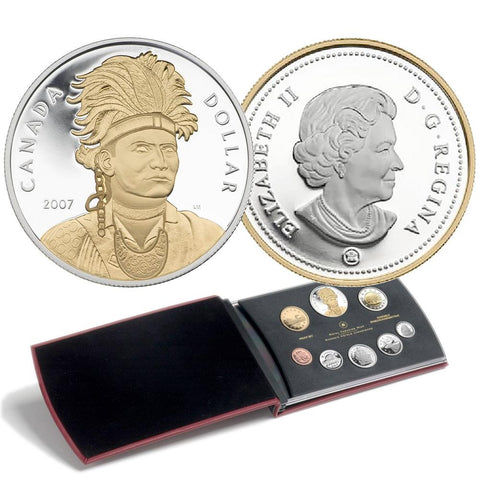 2007 Canada 8-Coin Thayendanegea (Joseph Brant) Sterling Silver Proof Set in OGP w/ COA