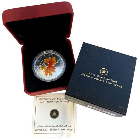 2007 Canada $5 1 oz .9999 Silver Sugar Maple Leaf - Gem in Box w/ COA
