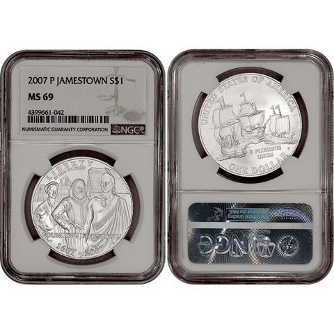 2007-P Jamestown Commemorative Silver Dollar - NGC MS 69