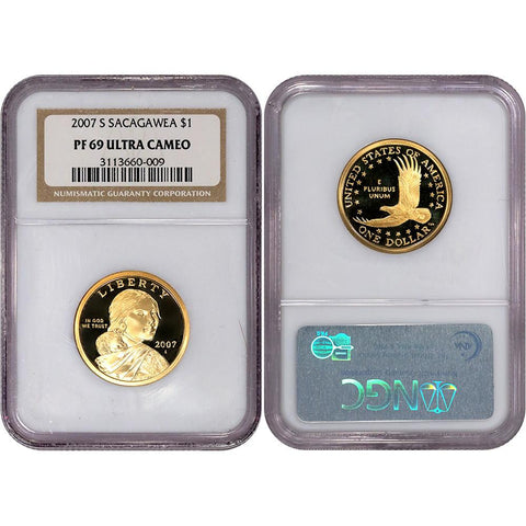 2007-S Proof Sacagawea Dollars in NGC PF 69 Ultra Cameo