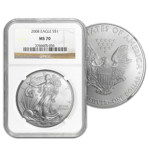2008 American Silver Eagle in NGC MS 70