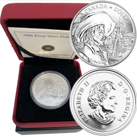 2008 Canada Quebec 400th Anniversary Proof Silver Dollar - Gem in OGP