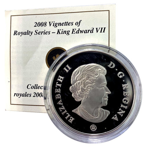 2008 Canada $15 Sterling Silver Vignettes of Royalty - King Edward VII - in Capsule with COA