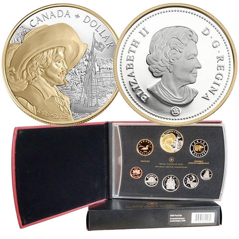 2008 Canada 8-Coin 400th Anniv. of Quebec Sterling Silver Proof Set in OGP w/ COA