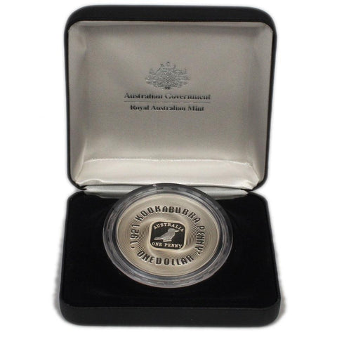 "2008 RAM Subscription ""1921 Kookaburra Penny"" $1 Silver Proof Coin - Gem Proof in OGP"