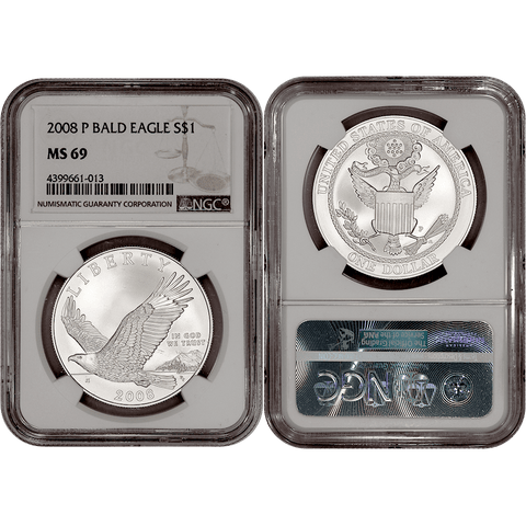 2008-P Bald Eagle Commemorative Silver Dollar - NGC MS 69