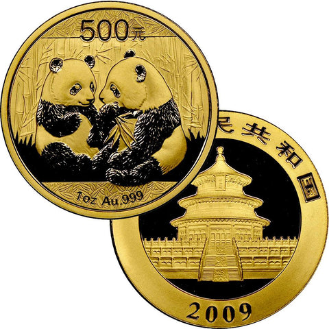 2009 500 Yuan 1 oz Gold Panda - Gem Uncirculated in Mint Plastic