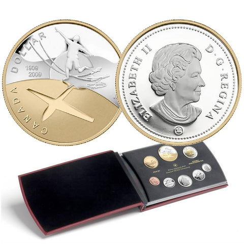 2009 Canada 8-Coin 100th Anniv. of Canadian Flight Sterling Silver Proof Set in OGP w/ COA