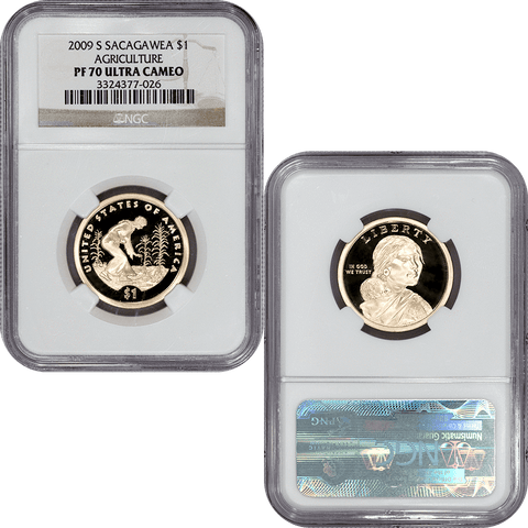 2009-S Proof Sacagawea Dollars in NGC PF 70 Ultra Cameo