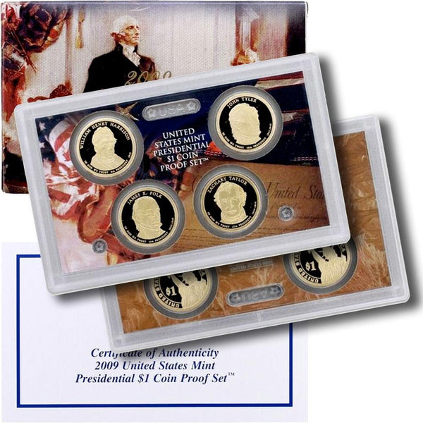 2009 S Presidential Dollar Proof Set 4 Coins No Box Or COA US Coins