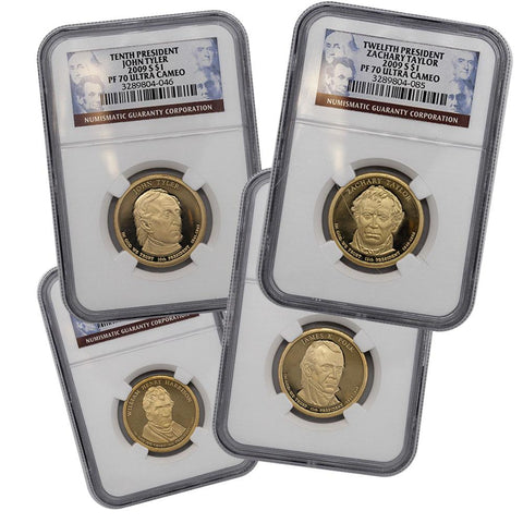 2009 Proof Presidential Dollars Certified Set - NGC PF70 Ultra Cameo