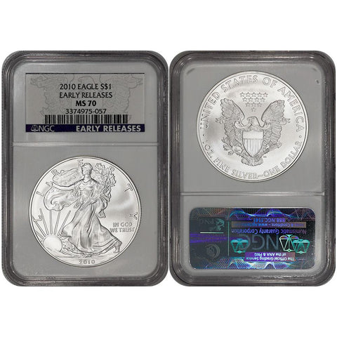 2010 American Silver Eagle in NGC MS 70 Early Release