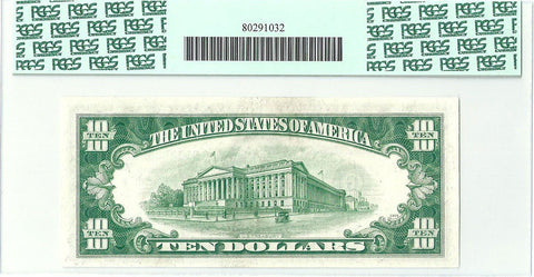 1950 $10 Federal Reserve Note Chicago District Fr. 2010-G (Wide) - PCGS Gem New 65 PPQ