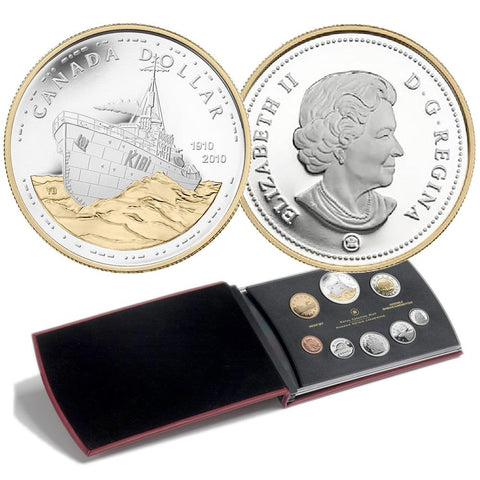 2010 Canada 8-Coin 100th Anniv. Canadian Navy Sterling Silver Proof Set in OGP w/ COA