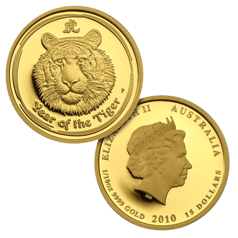 2010-P Proof Australia $15 10th Ounce Lunar Series II Year of the Tiger - Gem Proof