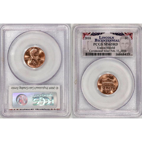 2010 Lincoln Cent Bicentennial - PCGS MS65 DCAM RD