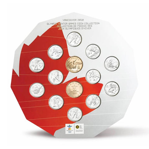 2010 Vancouver Olympic Winter Games Coin Collection