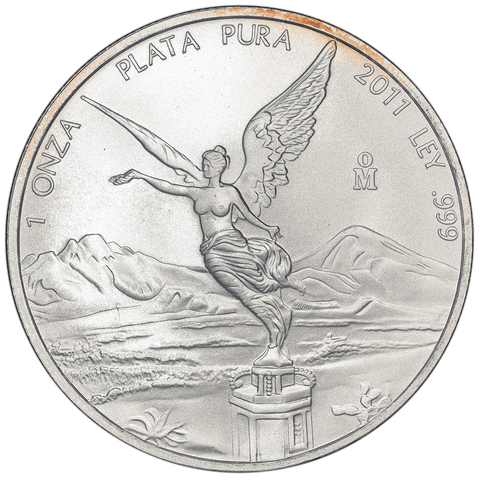 "2011 Mexico 1 Onza ""Libertad"" 1 oz Silver KM.639 - Gem Brilliant Uncirculated"