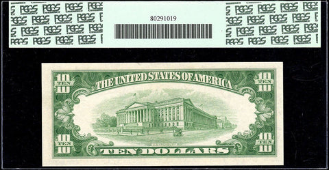 1950-A $10 Federal Reserve Note Chicago District Fr. 2011-G - PCGS Gem New 65 PPQ