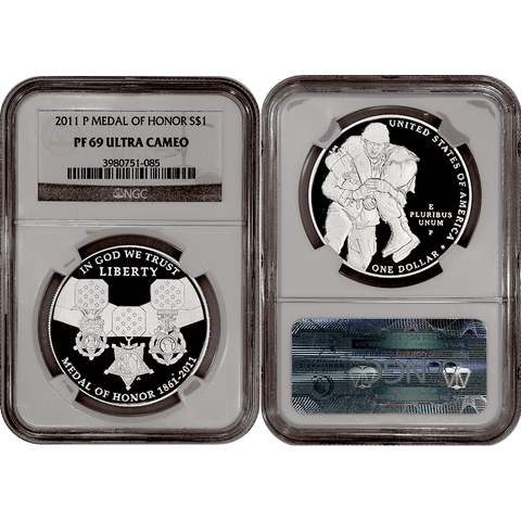 2011-P Medal of Honor Commemorative Silver Dollar - NGC PF 69 Ultra Cameo