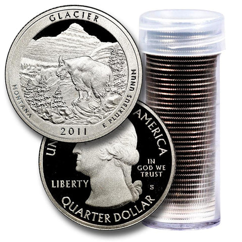 40-Coin Roll of 2011-S Glacier America The Beautiful Clad Proof Quarters - Directly From Proof Sets