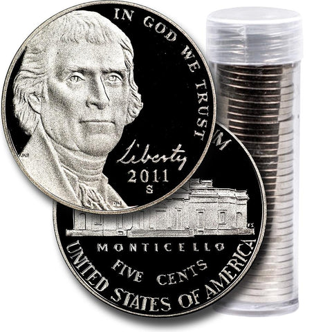 40-Coin Roll of 2011-S Proof Jefferson Nickels - Directly From Proof Sets