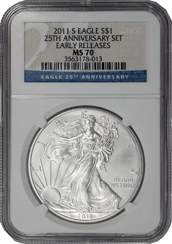 2011-S American Silver Eagle - NGC MS 70 Early Release