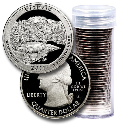 40-Coin Roll of 2011-S Olympic America The Beautiful Clad Proof Quarters - Directly From Proof Sets
