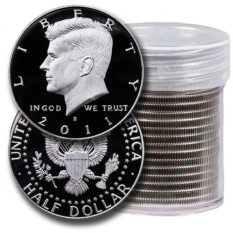 20-Coin Roll of 2011-S Proof Silver Kennedy Half Dollars - Directly From Proof Sets
