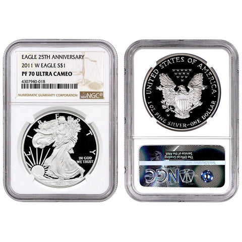 2011-W Proof American Silver Eagles in NGC PF 70