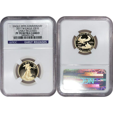 2011-W Proof $10 Quarter 1/4 Ounce American Gold Eagle - NGC PF 70 UCAM
