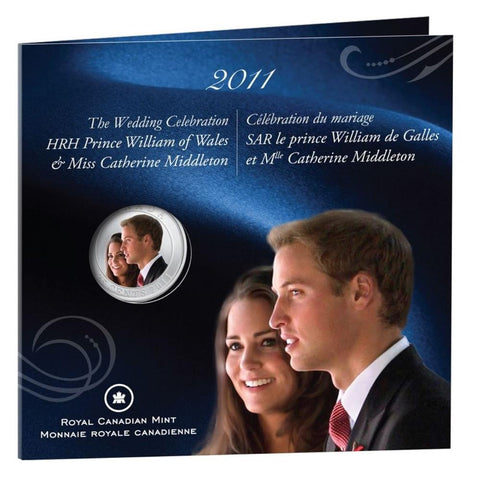 "2011 25 Cent The Wedding Celebration ""Prince William & Catherine Middleton"" Coloured Coin"