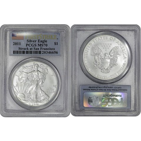 2011(S) American Silver Eagle - PCGS MS 70 First Strike