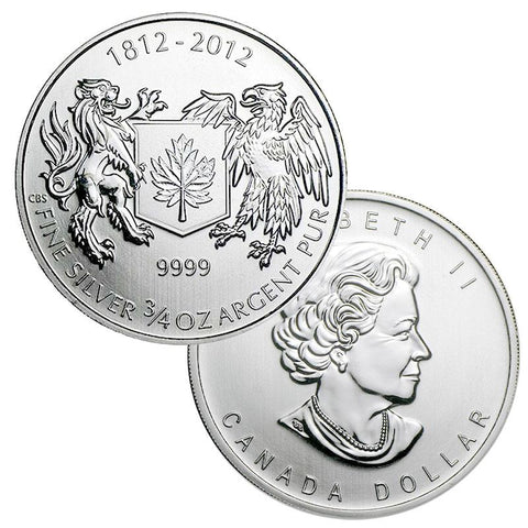 "2012 Canada $1 3/4 oz .9999 Silver ""War of 1812"" Coins - PQ BU"