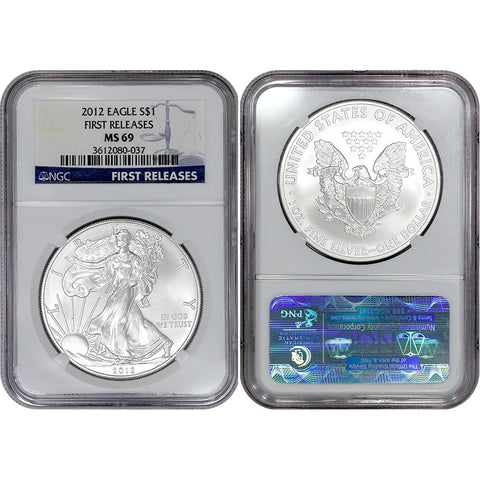 2012 American Silver Eagle - NGC MS 69 First Release