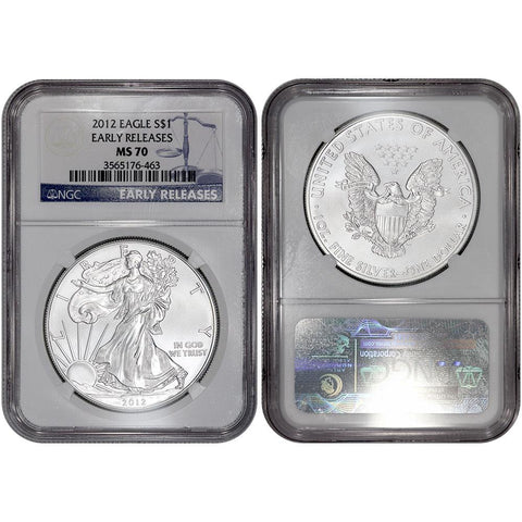 2012 American Silver Eagle - NGC MS 70 Early Releases