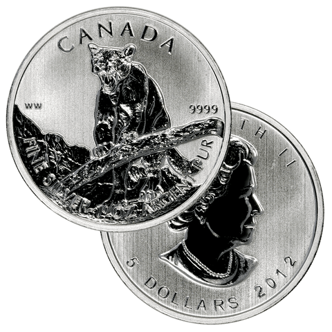 2012 Canada Cougar 1.0 oz .9999 Silver - Gem Brilliant Uncirculated