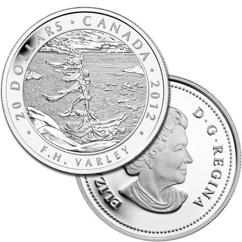 2012 Canada $20 Varley Stormy Weather Georgian Bay .9999 1 oz Silver - Gem in Capsule w/ COA
