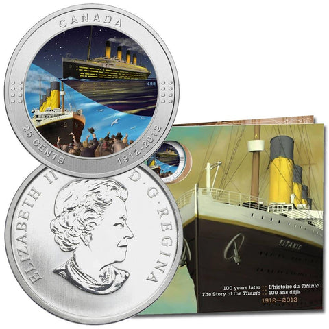2012 Canada 25 Cents Coloured R.M.S. Titanic - Gem in Shrinkwrap