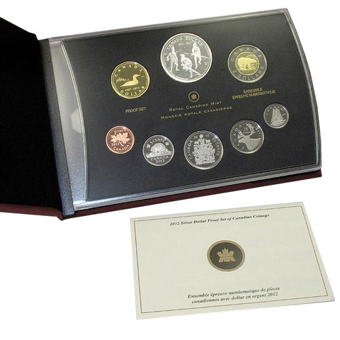 2012 Canada 8-Coin War of 1812 Silver Dollar Proof Set in OGP w/ COA