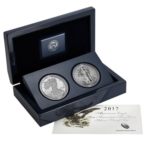 2012-S American Eagle San Francisco 2-Coin Set - Gem in OGP