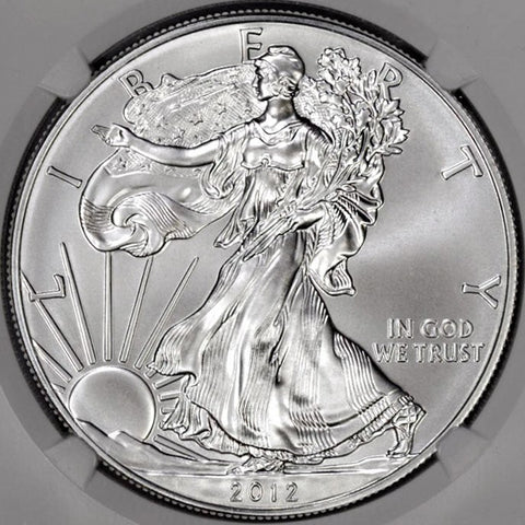 2012-W Burnished Silver Eagle in Mint Box, NGC MS 69 or NGC MS 70