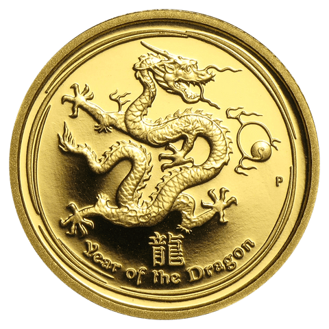 2012-P Proof Australia $15 10th Ounce Lunar Series II Year of the Dragon - Gem Proof