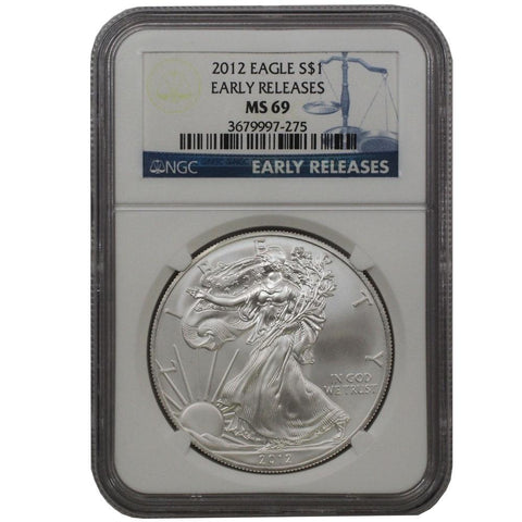 2012 American Silver Eagle ER in NGC MS 69