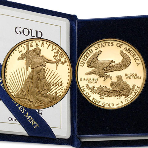 2012-W Proof $5 Tenth 1/10 Ounce Gold Eagle - Gem Proof in OGP