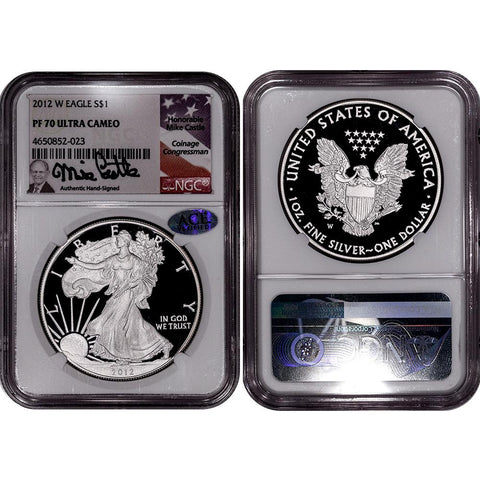 2012-W Proof American Silver Eagle - NGC PF 70 UCAM Mike Castle Signature