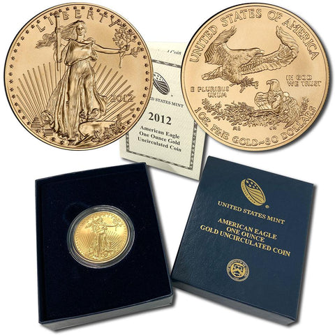 2012-W $50 Burnished American Gold Eagle - Gem Uncirculated in OGP w/ COA