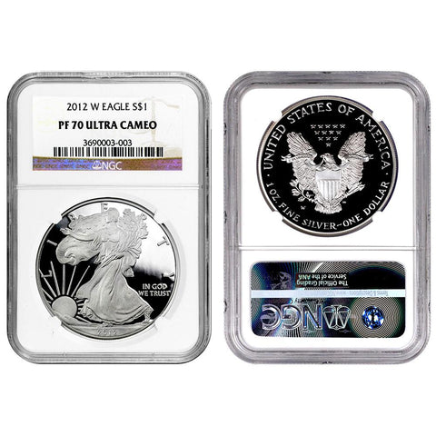 2012-W Proof American Silver Eagles in NGC PF 70