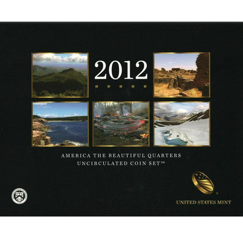 2012 America the Beautiful Quarter Uncirculated Coin Set